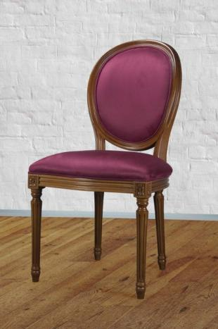 Chaise Emeline réalisée en Merisier Massif de style Louis XVI