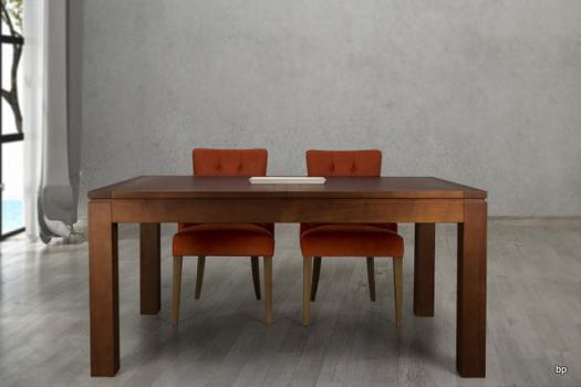 Table de repas rectangulaire 160X100 Laura réalisée en Merisier Ligne Contemporaine