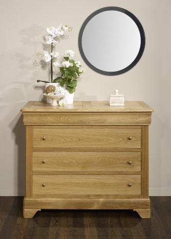 Commode 4 tiroirs nicolas réalisé en chêne massif de style louis philippe