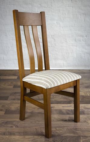 Chaise Annie réalisée en Merisier Massif de style contemporaine  assise tissu