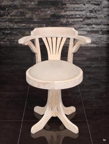Fauteuil de bureau marc réalisé en chêne massif pivotant assise tissu d'ameublement
