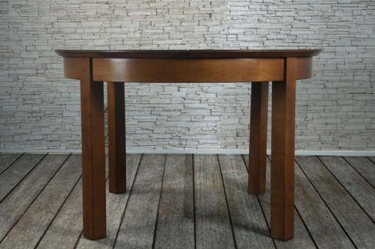 Table ronde Emy réalisée en Merisier de ligne contemporaine  plateau céramique
