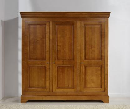 Armoire 3 portes   en Merisier Massif de style Louis Philippe
