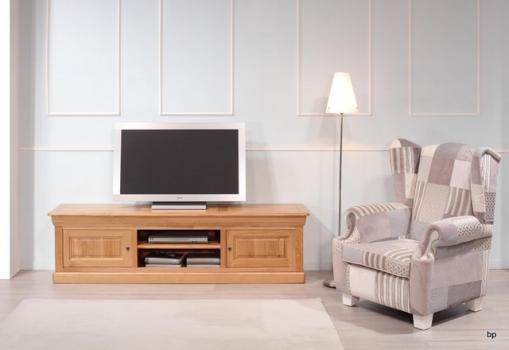 Meubles tv 16/9eme alexandre réalisé en merisier massif de style louis philippe  longueur 189 cm