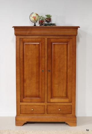 Bassette 2 portes 3 tiroirs réalisée en Merisier Massif de style Louis Philippe