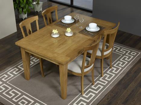 Table Rectangulaire Loïc réalisée en Chêne Massif 180*100 + 2 allonges de 40 cm
