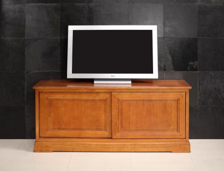 Meubles tv  2 portes coulissantes en merisier de style directoire seulement 1 disponible
