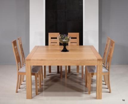 Table de salle à manger 140x140 CONTEMPORAINE  en Chêne Finition chêne brossé naturel SEULEMENT 1 DISPONIBLE