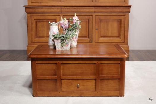Table Basse Bar Céline réalisée en Merisier de style Louis Philippe Largeur 100 cm