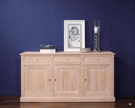 Buffet 3 portes 3 tiroirs Valentin, réalisé en Chêne massif de style Directoire