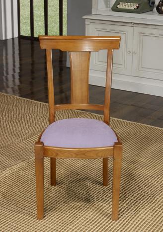Chaise Lou réalisée en Merisier Massif de style Louis Philippe  Tissu Ameublement