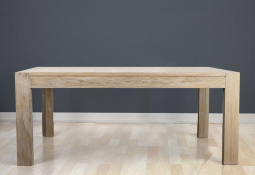 Table de repas rectangulaire  180X100 réalisée en Chêne Ligne Contemporaine Double allonge portefeuille en bout de table