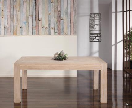 Table de repas rectangulaire  180X100 réalisée en Chêne Ligne Contemporaine Double allonge à l'extrémité de la table