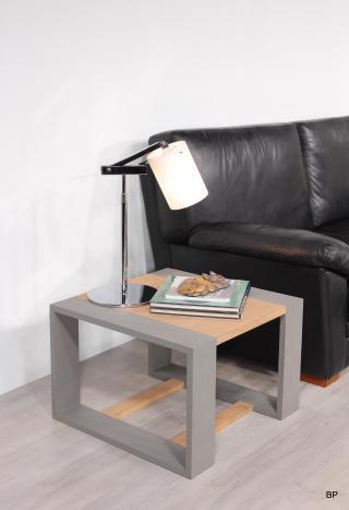 Table basse ou d'appoint 60x60 Ariel en chêne de ligne contemporaine