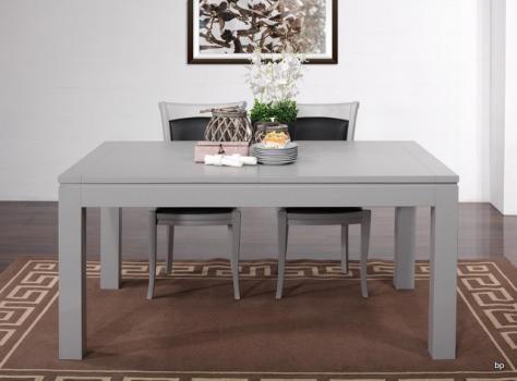 Table de repas Aurore réalisée en Merisier Massif Contemporaine Largeur 160 cm Laqué gris et patiné