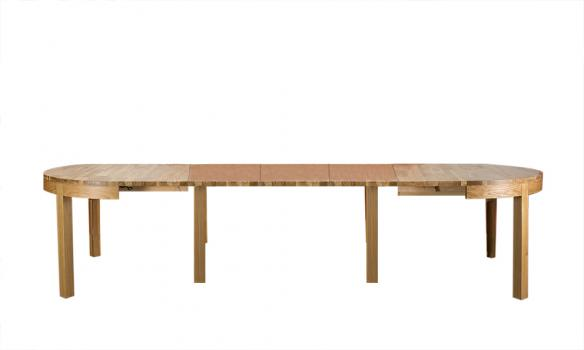 Table de repas ovale Denys, réalisée en Chêne Ligne Contemporaine 160*120 Finition Chêne naturel
