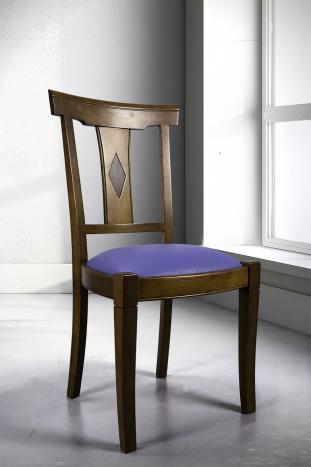 Chaise Syriel réalisée en Merisier Massif de style Louis Philippe  assise encastrée