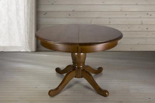 Table ronde pieds central réalisée en Chêne de style Louis Philippe DIAMETRE 110