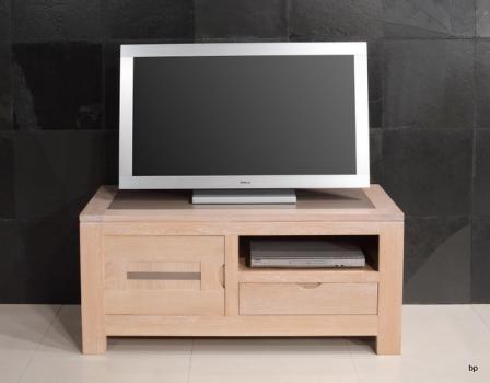 Meuble TV Adriana réalisé en chêne avec 1 porte et 1 tiroir Ligne Contemporaine BONNE AFFAIRE 1 DISPONIBLE