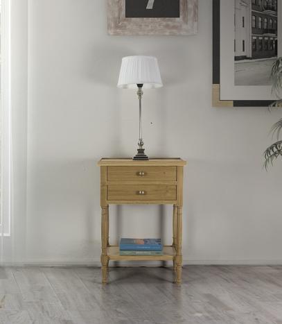 Table de chevet Jean-Lou réalisée en Chêne de style Louis Philippe