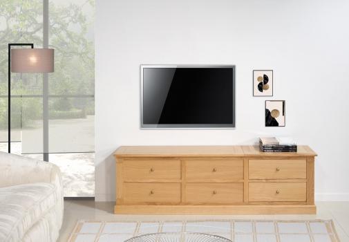 Meuble TV ou de rangement Jean  en chêne de style Directoire