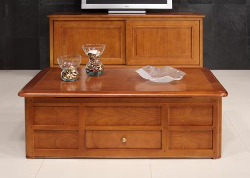 Table Basse Bar ine  en Merisier de style Louis Philippe SEULEMENT 1 DISPONIBLE