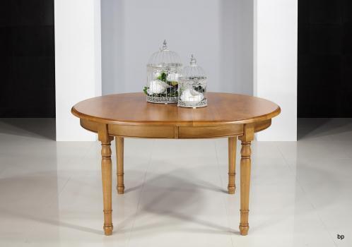 Table OVALE 135x110  en Chêne Massif de style Louis Philippe 2 allonges de 40 cm Finition Chêne Doré PATINE ANTIQUAIRE_ BONNE AFFAIRE 1 DISPONIBLE