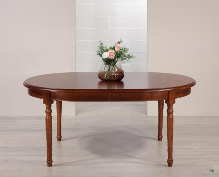 Table Ovale 170*110  en Merisier Massif de style Louis Philippe 5 ALLONGES DE 40 CM