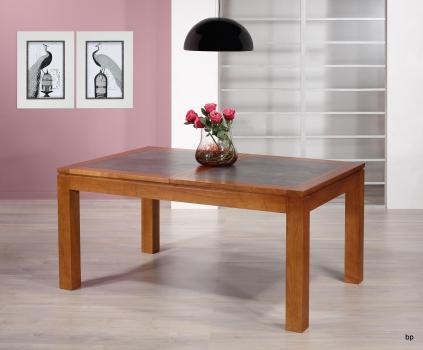 Table de repas Aurore  en Merisier Massif Contemporaine Plateau céramique Largeur 160 cm