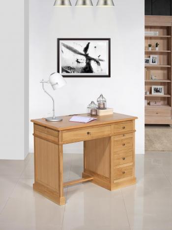 Petit bureau Luc  en chêne de style Louis Philippe Plateau bois