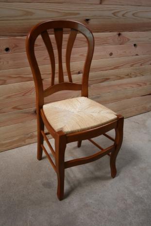 Chaise Alice de style Louis Philippe réalisée en Merisier Massif
