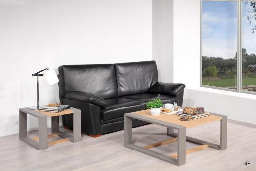 Table basse 90x90 Aurélien en chêne de ligne contemporaine