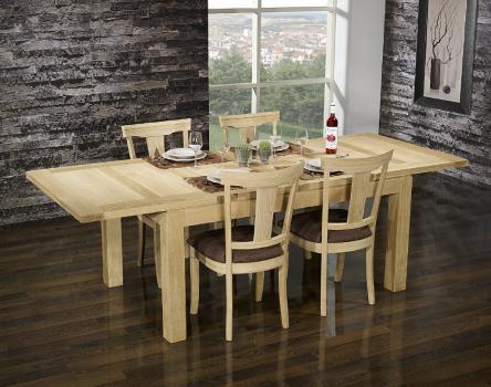Table de repas rectangulaire 160X100 Théo réalisée en Chêne Ligne Contemporaine Finition Chêne traditionnelle