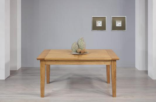 Table Rectangulaire Loïc réalisée en Chêne Massif 160*100 + 2 allonges de 40 cm Finition chêne naturel