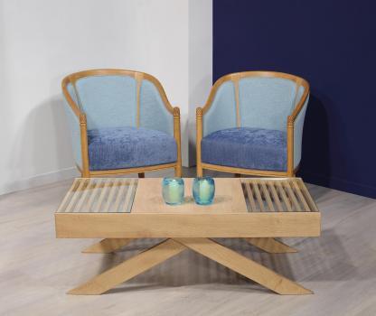 Table basse Geoffroy réalisée en chêne de style contemporaine