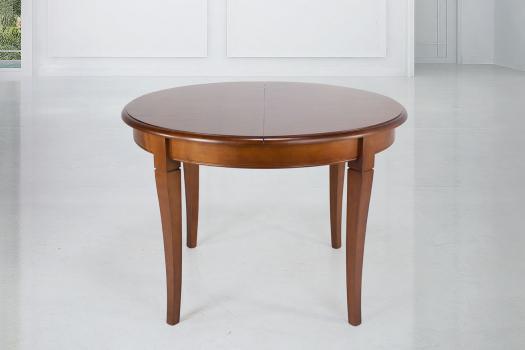 Table ronde 4 pieds Juliette  en Merisier Massif de style Louis Philippe Diamètre 120 SEULEMENT 1 DISPONIBLE