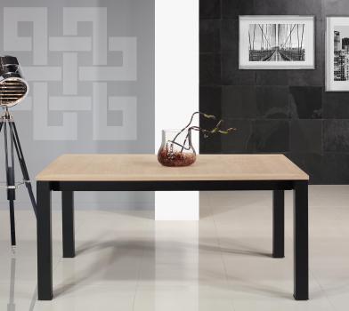 Table rectangulaire  167x100 de salle à manger avec 2 allonges intégrées de 45