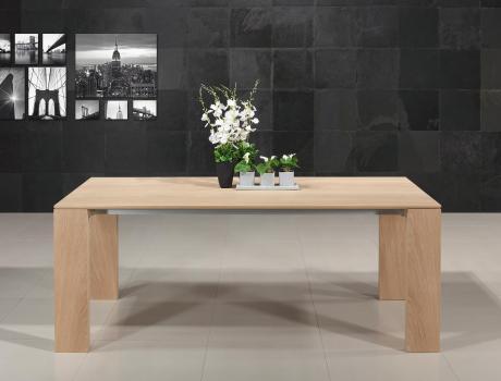 Table rectangulaire  196x100 de salle à manger avec 1 allonge intégrées de 88 cm