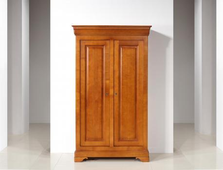 Petite Armoire 2 portes Madeleine  en Chêne Massif de style Louis Philippe - avec 1 miroir biseauté intérieur