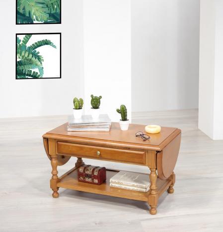 Table basse à volets Jean  en Chêne massif de style Louis Philippe