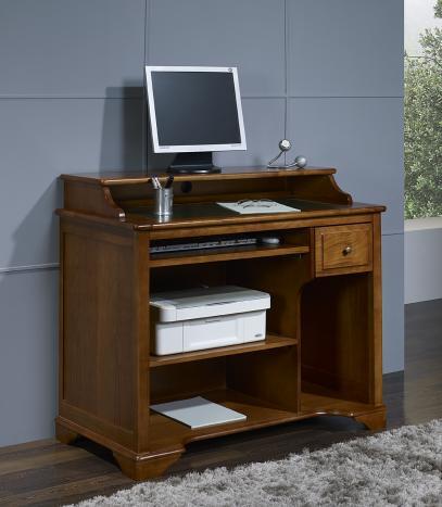 Petit Bureau informatique Malorie réalisé en Merisier de style Louis Philippe