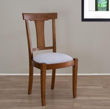Chaise Lou réalisée en Merisier Massif de style Louis Philippe  Tissu d'ameublement