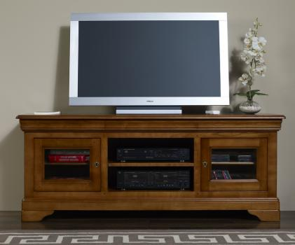 meuble tv 16 9 me nicolas en merisier massif de style. Black Bedroom Furniture Sets. Home Design Ideas