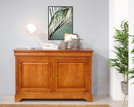 Buffet 2 portes 3 tiroirs   en merisier massif de style Louis Philippe SEULEMENT 1 DISPONIBLE