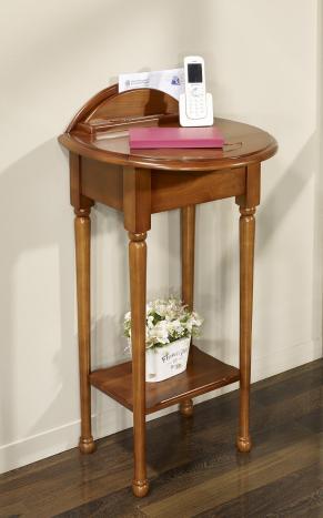Table Téléphone Marie-Amélie réalisée en Merisier de style Louis Philippe