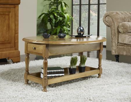 Table Basse Victor réalisée en Chêne Massif de style Louis Philippe