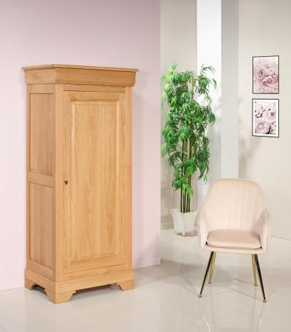 Bonnetière 1 porte réalisée en Chêne Massif de style Louis Philippe Finition Chêne naturel SEULEMENT 1 DISPONIBLE