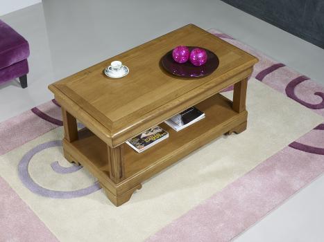 Table basse Eliot réalisée en Chêne de style Louis Philippe