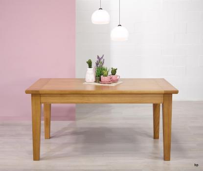 Table Rectangulaire Loïc réalisée en Chêne Massif 180*100 + 2 allonges de 40 cm Finition chêne doré SEULEMENT 1 DISPONIBLE