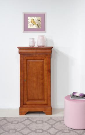 Petit Fromager ou meuble de rangement  en Merisier massif de style Louis Philippe